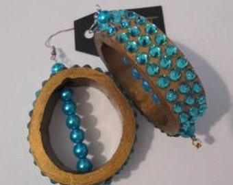 EARRINGS mod.BAMBOO BLU