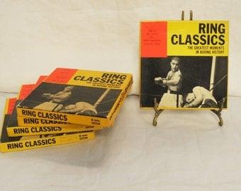 Vintage 8MM Castle Films Set of 4 Boxing Films.