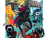 Fantasy Time VII (Final Fantasy VII & Adventure Time Crossover) 11x17 Print featured image