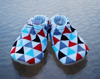 Triangles Soft Sole Cloth Baby Shoe