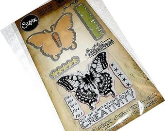 Tim Holtz Stamps and Dies Set LIMITATIONS - 660189 Butterfly Sizzix Dies 1-cc02