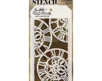Tim Holtz Stencil CLOCKWORK THS503 1.cc05 SS068