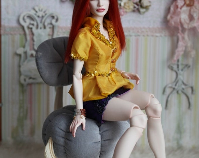 Set of silk jacket and skirt for Natalia Loseva. Also Minifee BJD by FL