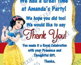Princess Snow White Thank You Card