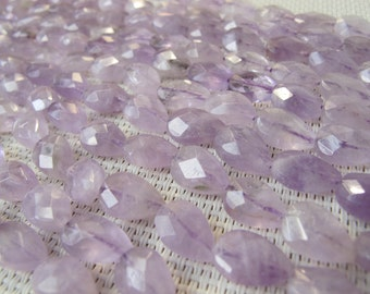 10x13mm Natural Amethyst Faceted Teardrop Bead S85