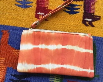 Orange & White Tie Dye Purse>Wallet>leather>super cute>summer>festival>fun>trends>winter>gift>original Design by Cinta Kamu Store