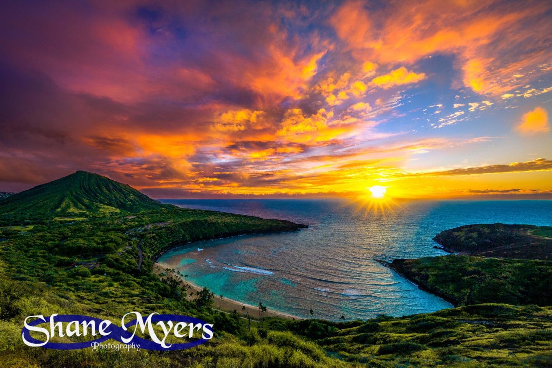 Beautiful Hawaiian Sunrise Fine Art Print Titled