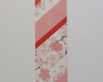 Bookmark - OoaK - Sakura in pink and red