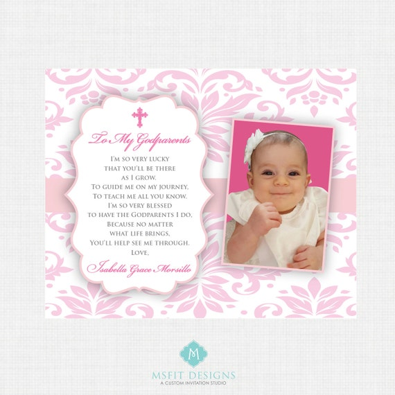 Godparents gift - Personalized gift for Godmother and Godfather - Gift from Godchild - 8x10 or 11x14 or 16x20 Digital File