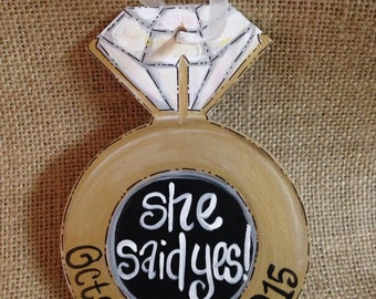Personalized engagement ring ornament