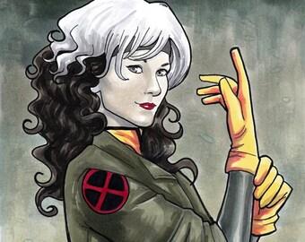 Rogue X-men '92 Sketch Cover Comic