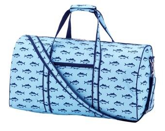 Boy's Finn  embroidered  Duffel bag luggage overnight bag monogram bag mens sleepover luggage  bag Duffel bag