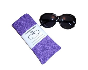 Purple Sunglass Case, Sunglass Holder, Womens Eyeglass Case, Fabric Sunglass Case, Sunglasses or Eyeglasses Holder, Gift For Women
