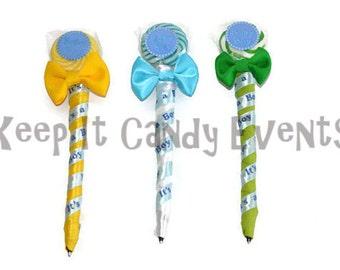 Baby Shower Lollipop Pen, Baby Shower Favor, Edible, Baby Shower, Favor, Lollipop, Candy, Pen, Candy Pen, Baby Girl, Baby Boy, Baby, Girl