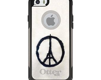 OtterBox Commuter for Apple iPhone 5S SE 5C 6 6S 7 8 PLUS X 10 - Custom Monogram - Any Colors - Paris Peace Symbol