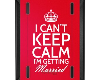 Custom OtterBox Defender for Apple iPad 2 3 4 / Air 1 2 / Mini 1 2 3 4 - CUSTOM Monogram - Can't Keep Calm Getting Married