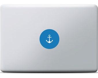 Anchor MacBook Sticker, Laptop decal, Vinyl decal, MacBook Pro, MacBook Air, Blue and Black