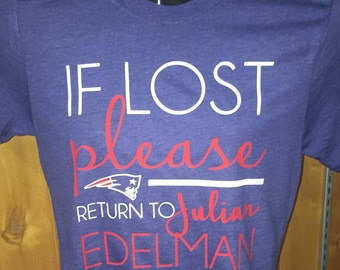 If lost please return to Julian Edelman