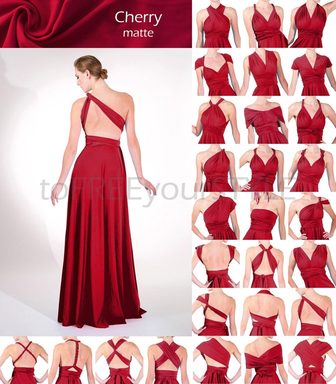 Cherry red dress  Etsy