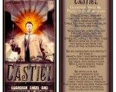 Castiel- Guardian Angel Candle With Prayer