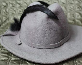 Grey wool Lancaster hat