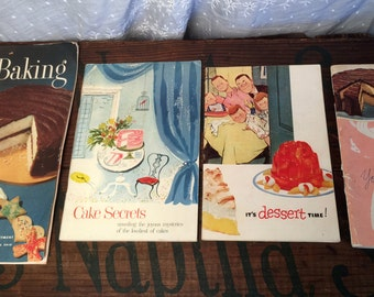 Vintage Deserts and Baking Cook Books 1940's