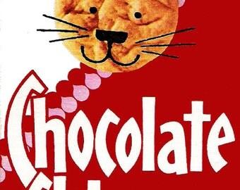 "Nabisco Chocolate Chip Snaps 2"" x 3"" Fridge Magnet Art Vintage cookies"