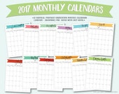 Printable 2017 monthly ca...