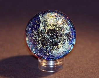 Flameworked Dicro Galaxy Marble