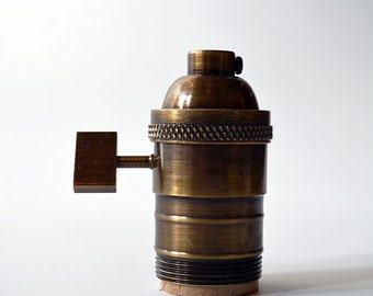 UNO Socket - Antique Brass - Light Socket