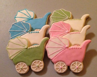 Baby Carriage Sugar Cookies