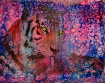 Limited Edition Print of a Beautiful Siberian Tiger  ,Wall Art , Great Gift Idea For Animal Lovers,Rainforest Rhapsody
