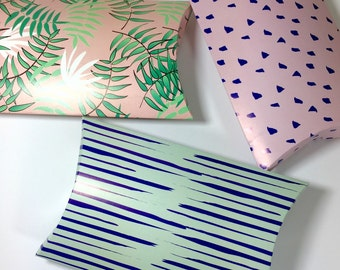 Gift box for jewelry. Paper goods. A beautifully packing for your jewellery gift.