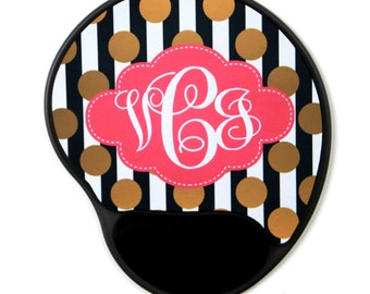 Mouse Pad with Wrist Rest, Personalized Mousepad, Monogrammed Mouse Pad, Monogrammed Mousepad, Custom Mouse Pad, Custom Mousepad, Mouse Pad