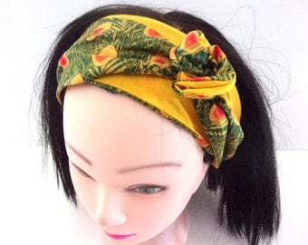 rigid headband green  woman
