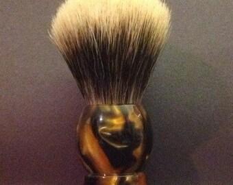 Hand-turned acrylic shaving soap brush - 063