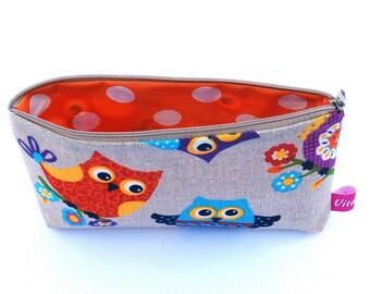 Owl bag / pencil case