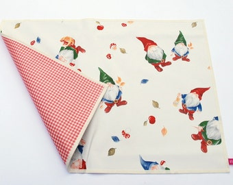 Time pad, desk pad, wipe clean finish, oilcloth placemat, desk pad