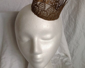 Small Mini Lace Crown Fascinator--Ready to Ship