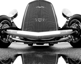 32 Ford Hot Rod, car, photography, wall art, black & white, ford,