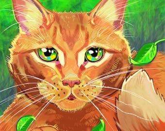 Custom digital pet drawing