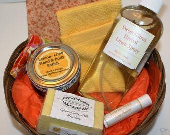 Citrus Bath and Body Gift Basket