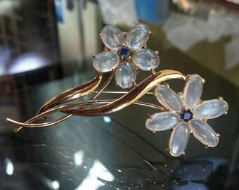 14ky Vintage Floral pin/brooch