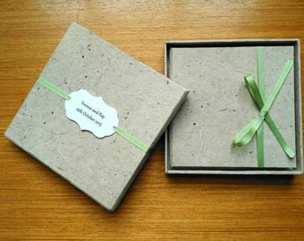 CD Case and Box, DVD packaging, Hemp Lokta Paper, Choice of Ribbon.