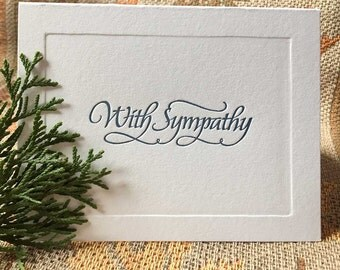 Letterpress Sympathy Card (Calligraphy by Larry Orlando)