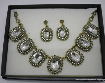 STRASS necklace for period dress, Venetian Carnival, bridal,