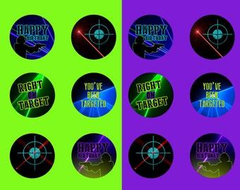 Printable Laser Tag Circles