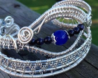 Sapphire Eyes Ladies Cuff Bracelet