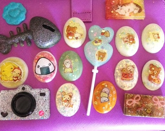 16 resin cabochon for decoden, created by me