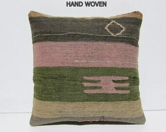 """throw pillow kilim 18"""" sofa throw pillow turkish rug bohemian throw pillow throw pillow case tapestry throw pillow boho chic tapestry 31962"""